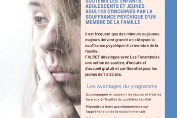 La FONDATION FALRET soutient les enfants et jeunes adultes concernés par la souffrance psychique d'un proche